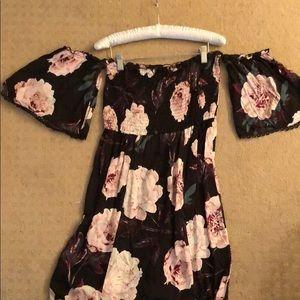 Lulu's floral boho maxi dress worn 1x for 2 hrs